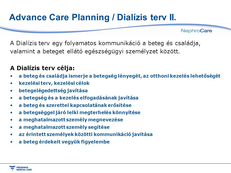 Advance Care Planning / Dialízis terv II.