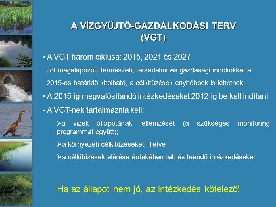 A VÍZGYŰJTŐ-GAZDÁLKODÁSI TERV (VGT)