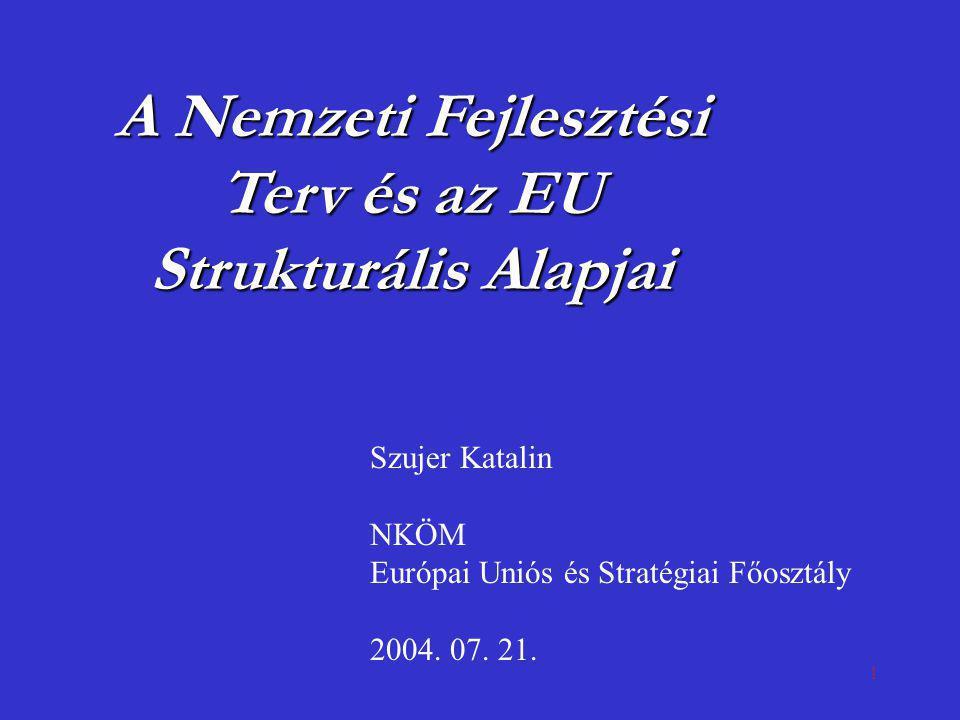 A Nemzeti Fejlesztési Terv és az EU Strukturális Alapjai