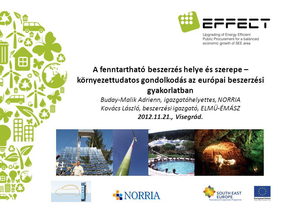 A fenntartható beszerzés helye és szerepe – környezettudatos gondolkodás az európai beszerzési gyakorlatban