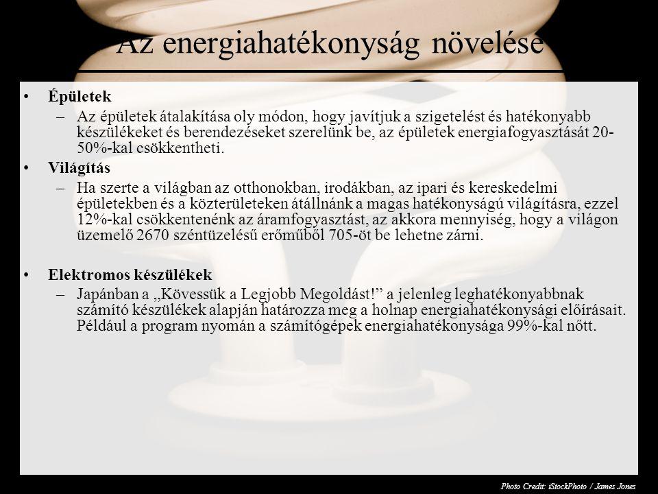 Az energiahatékonyság növelése