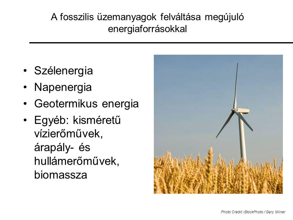 A fosszilis üzemanyagok felváltása megújuló energiaforrásokkal
