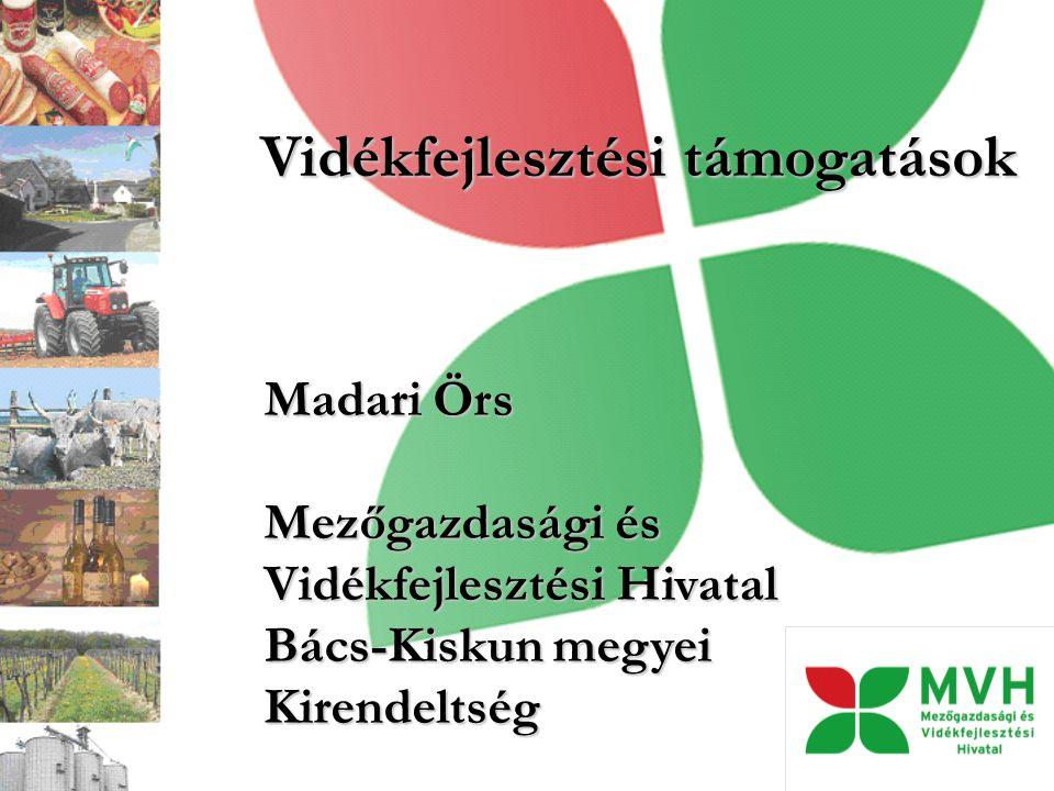 Vidékfejlesztési támogatások