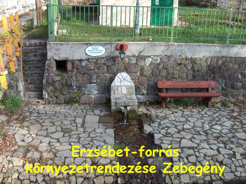 Erzsébet-forrás környezetrendezése Zebegény