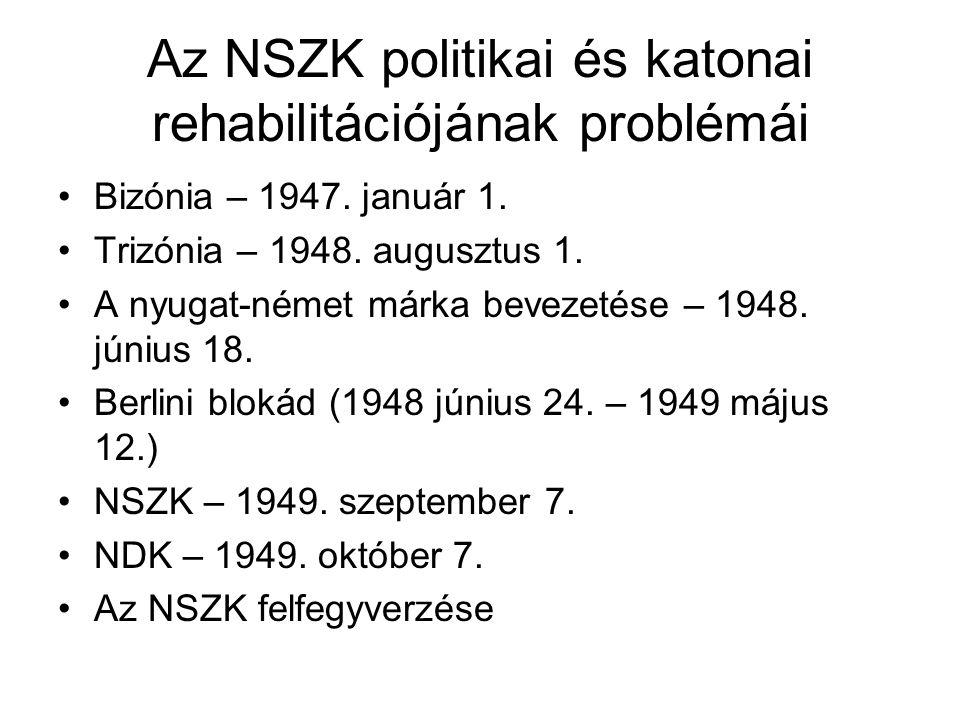 Az NSZK politikai és katonai rehabilitációjának problémái