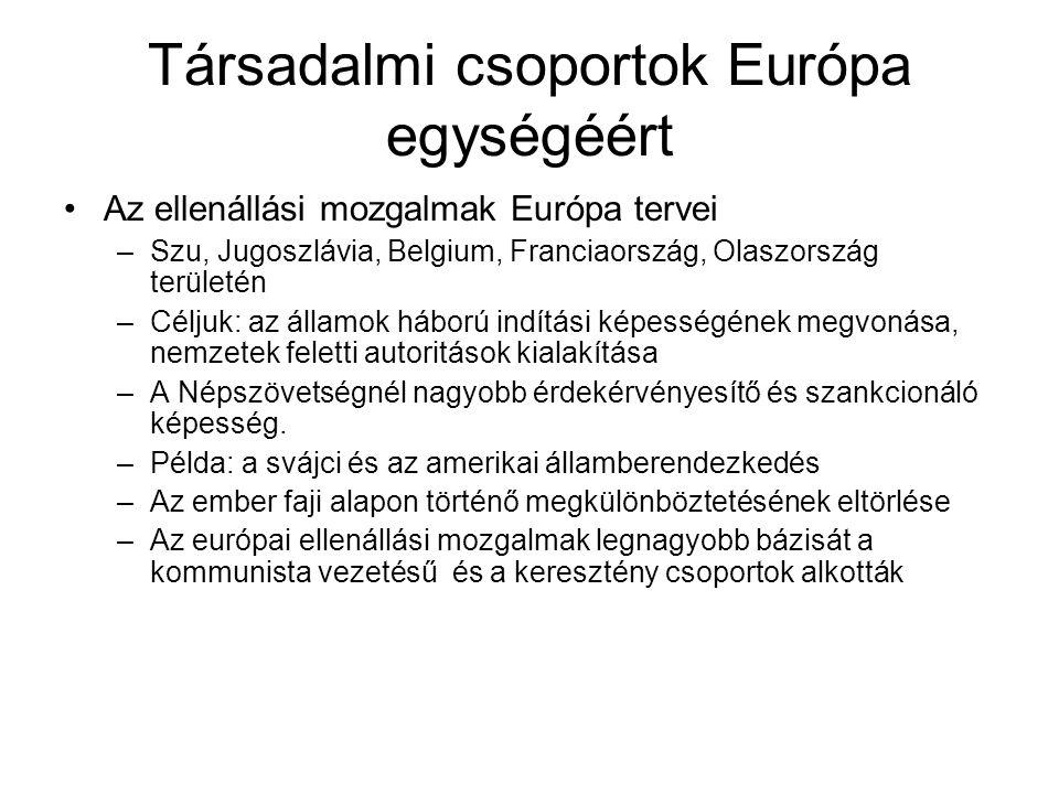Társadalmi csoportok Európa egységéért