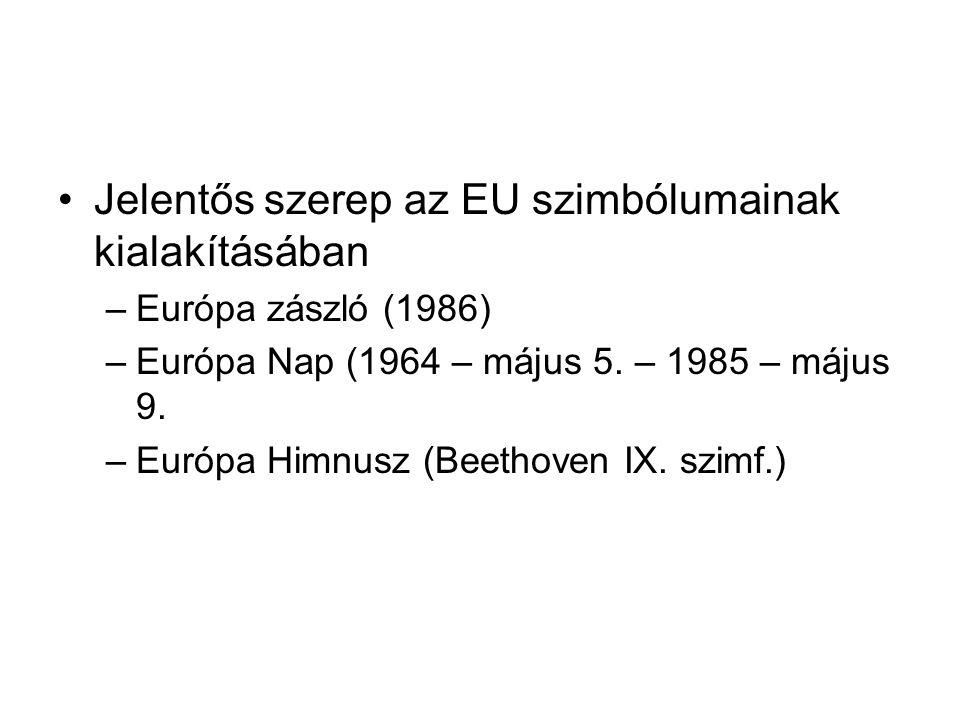 Jelentős szerep az EU szimbólumainak kialakításában