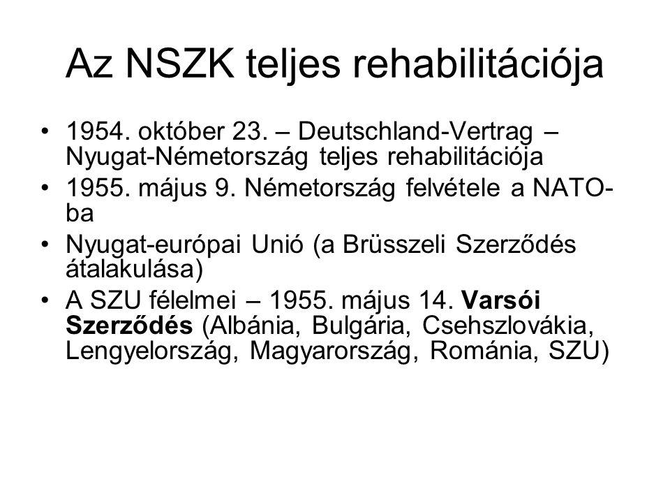 Az NSZK teljes rehabilitációja