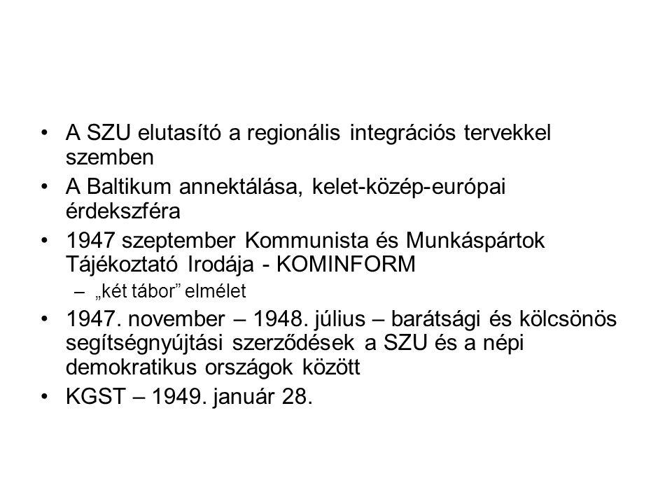 A SZU elutasító a regionális integrációs tervekkel szemben