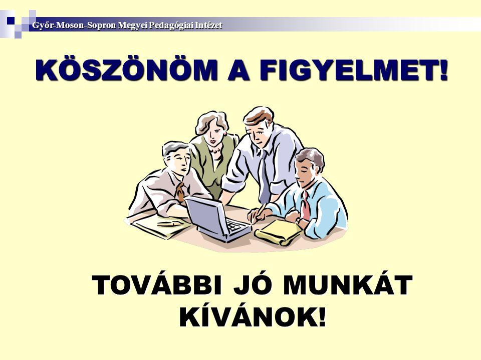 TOVÁBBI JÓ MUNKÁT KÍVÁNOK!