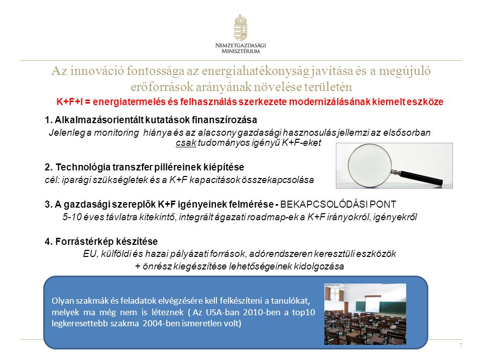Az innováció fontossága az energiahatékonyság javítása és a megújuló erőforrások arányának növelése területén
