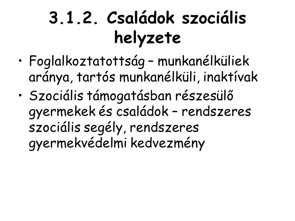 3.1.2. Családok szociális helyzete