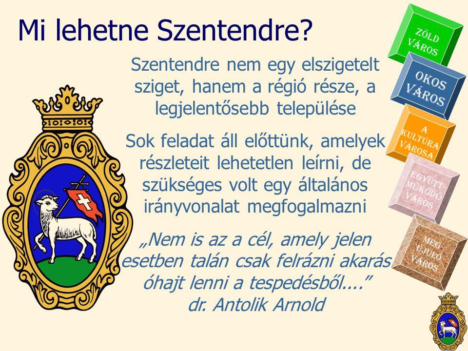 Mi lehetne Szentendre ZÖLD. VÁROS. Szentendre nem egy elszigetelt sziget, hanem a régió része, a legjelentősebb települése.