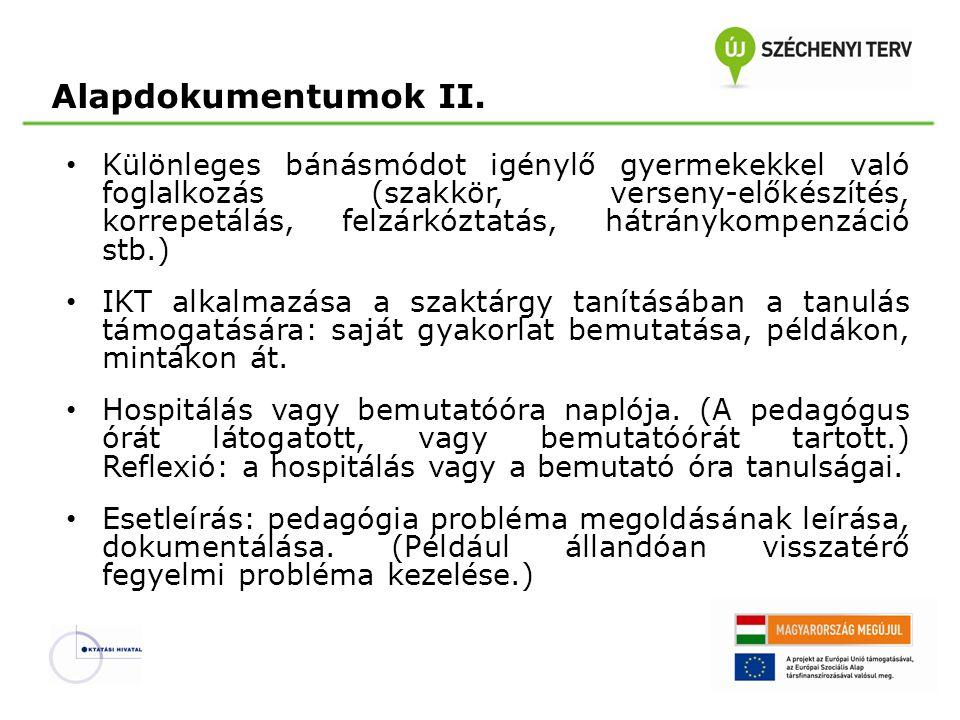 Alapdokumentumok II.