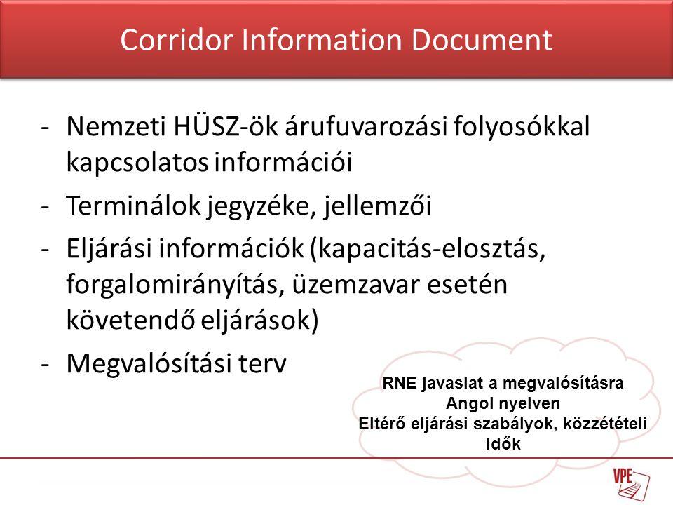 Corridor Information Document