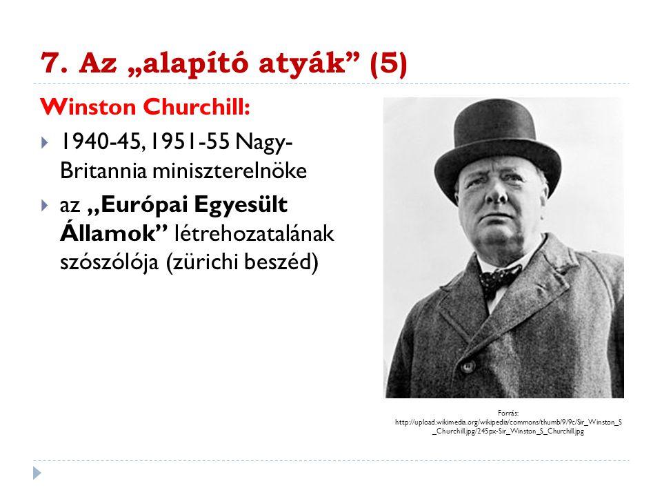 """7. Az """"alapító atyák (5) Winston Churchill:"""