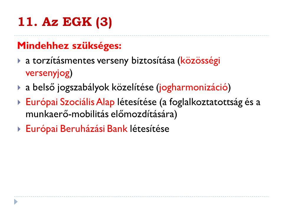 11. Az EGK (3) Mindehhez szükséges: