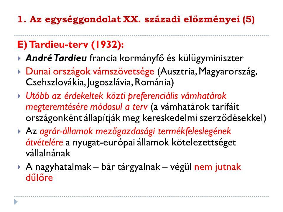 1. Az egységgondolat XX. századi előzményei (5)