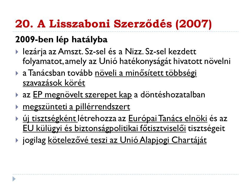 20. A Lisszaboni Szerződés (2007)