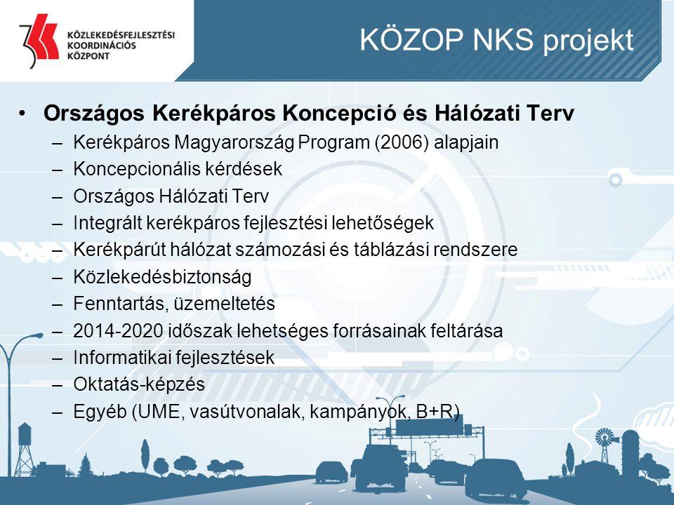 KÖZOP NKS projekt Országos Kerékpáros Koncepció és Hálózati Terv