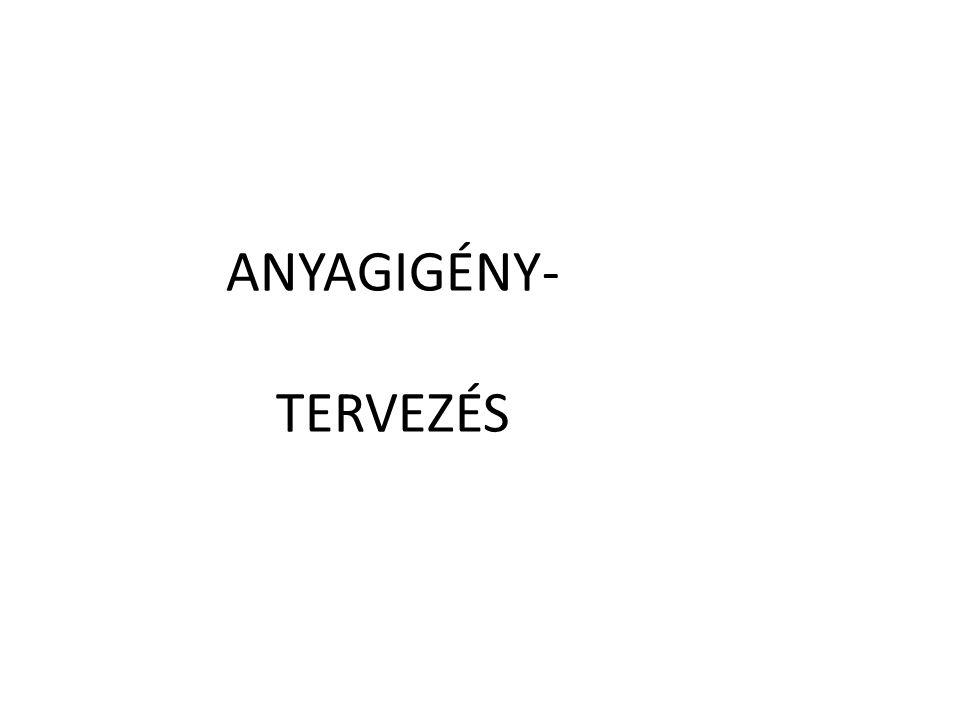 ANYAGIGÉNY- TERVEZÉS