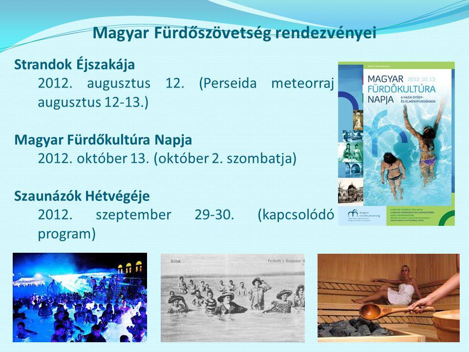 Magyar Fürdőszövetség rendezvényei