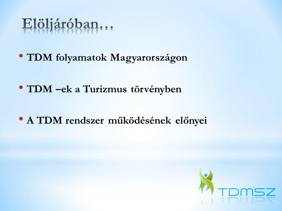 Elöljáróban… TDM folyamatok Magyarországon