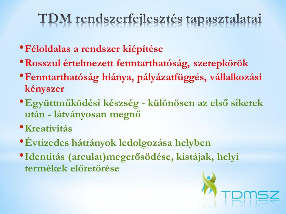 TDM rendszerfejlesztés tapasztalatai