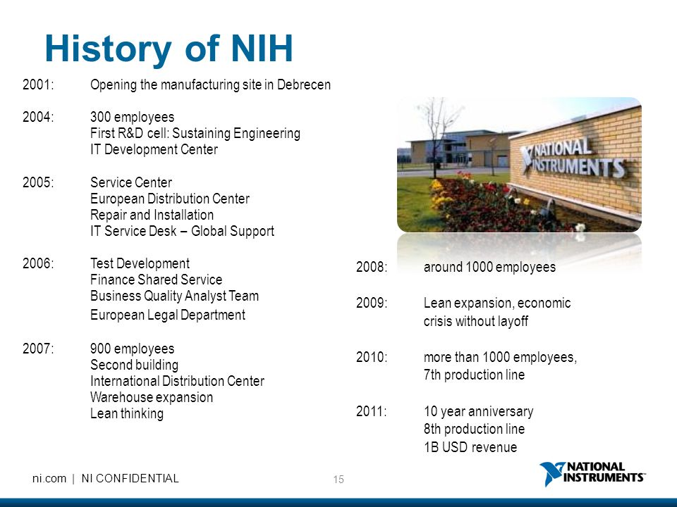 History of NIH European Legal Department