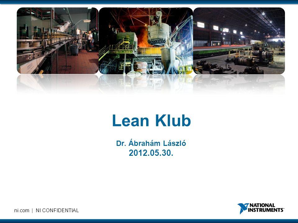 Lean Klub Dr. Ábrahám László 2012.05.30.