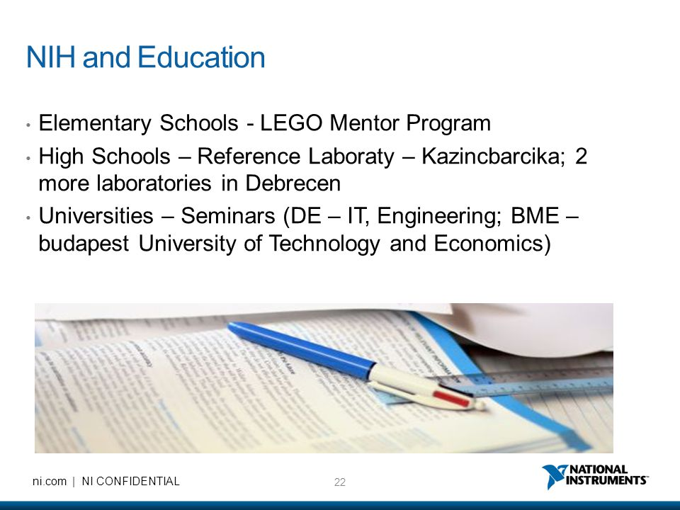 NIH and Education Elementary Schools - LEGO Mentor Program