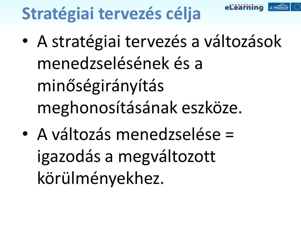 Stratégiai tervezés célja