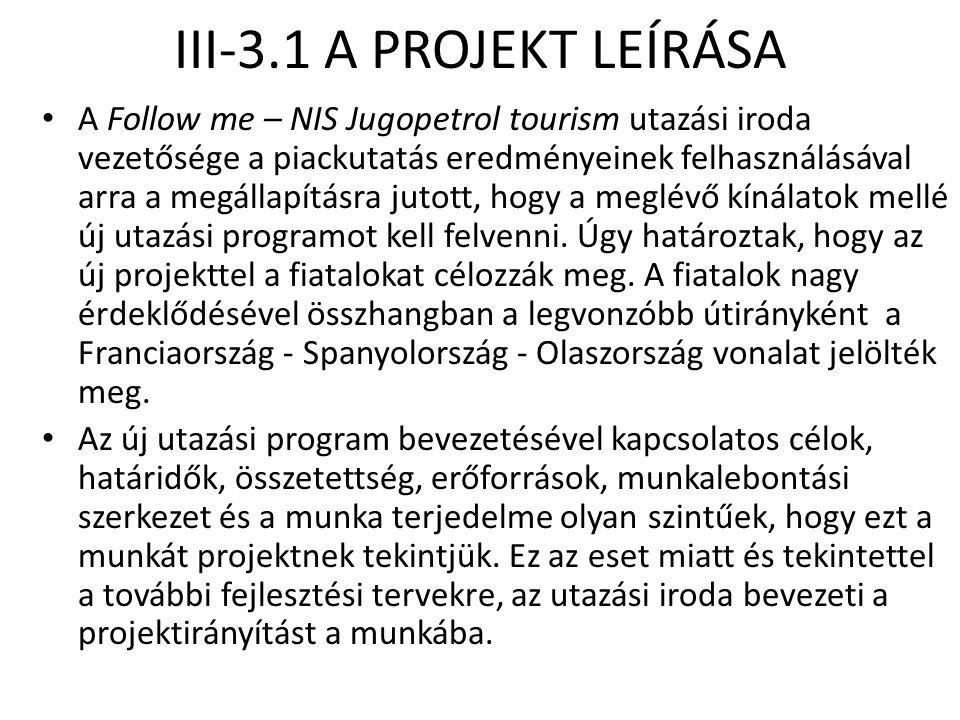 III-3.1 A PROJEKT LEÍRÁSA