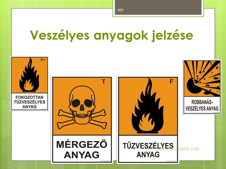 Veszélyes anyagok jelzése