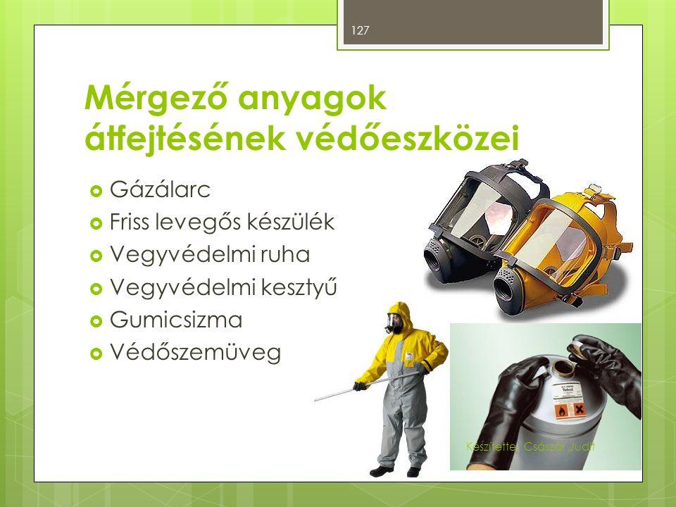 Mérgező anyagok átfejtésének védőeszközei