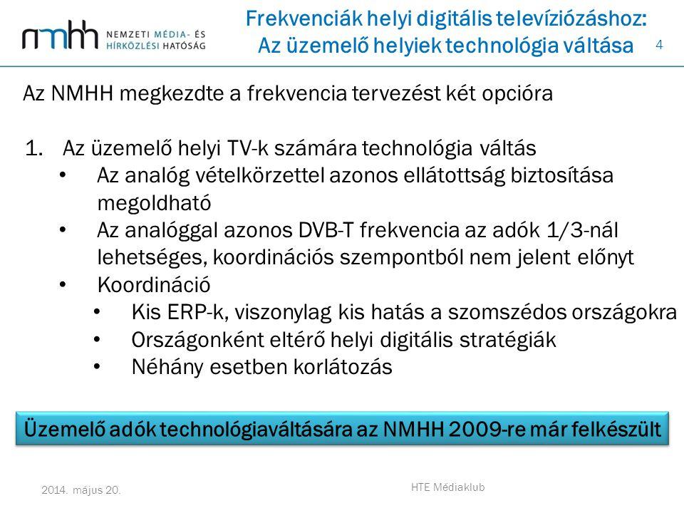 Üzemelő adók technológiaváltására az NMHH 2009-re már felkészült