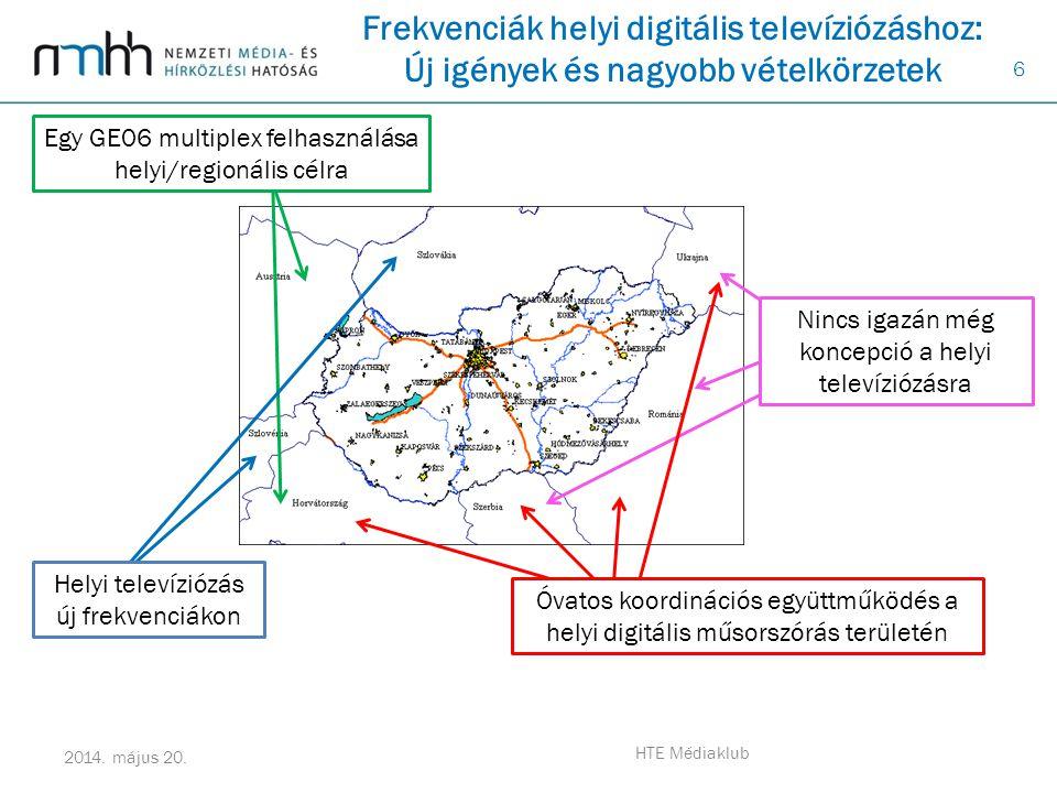 Frekvenciák helyi digitális televíziózáshoz: Új igények és nagyobb vételkörzetek