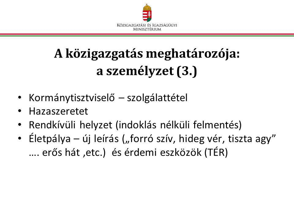 A közigazgatás meghatározója: a személyzet (3.)