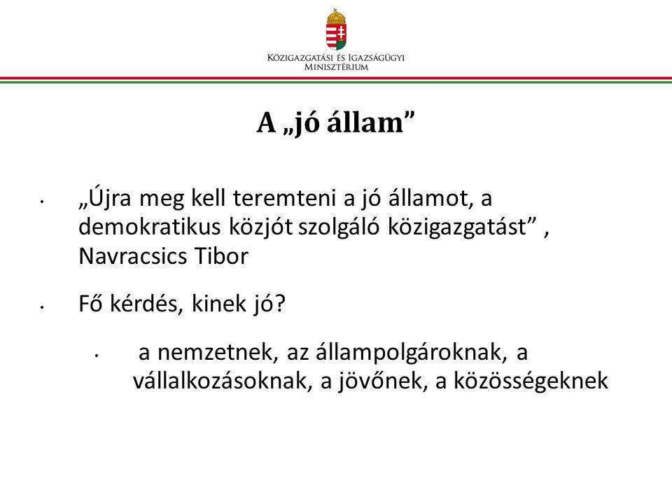 """A """"jó állam """"Újra meg kell teremteni a jó államot, a demokratikus közjót szolgáló közigazgatást , Navracsics Tibor."""