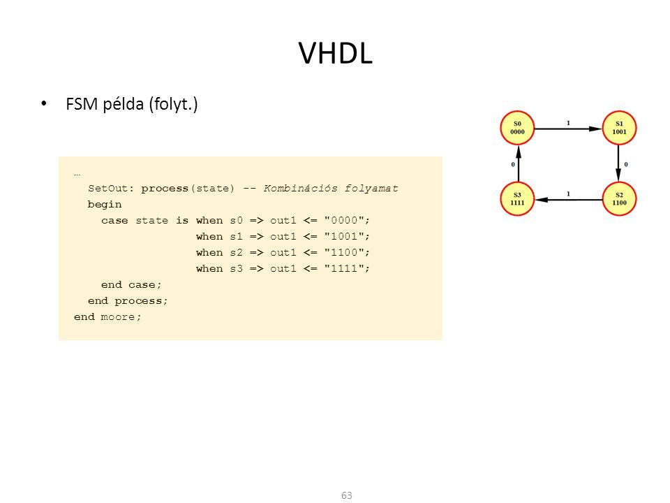 VHDL FSM példa (folyt.) …