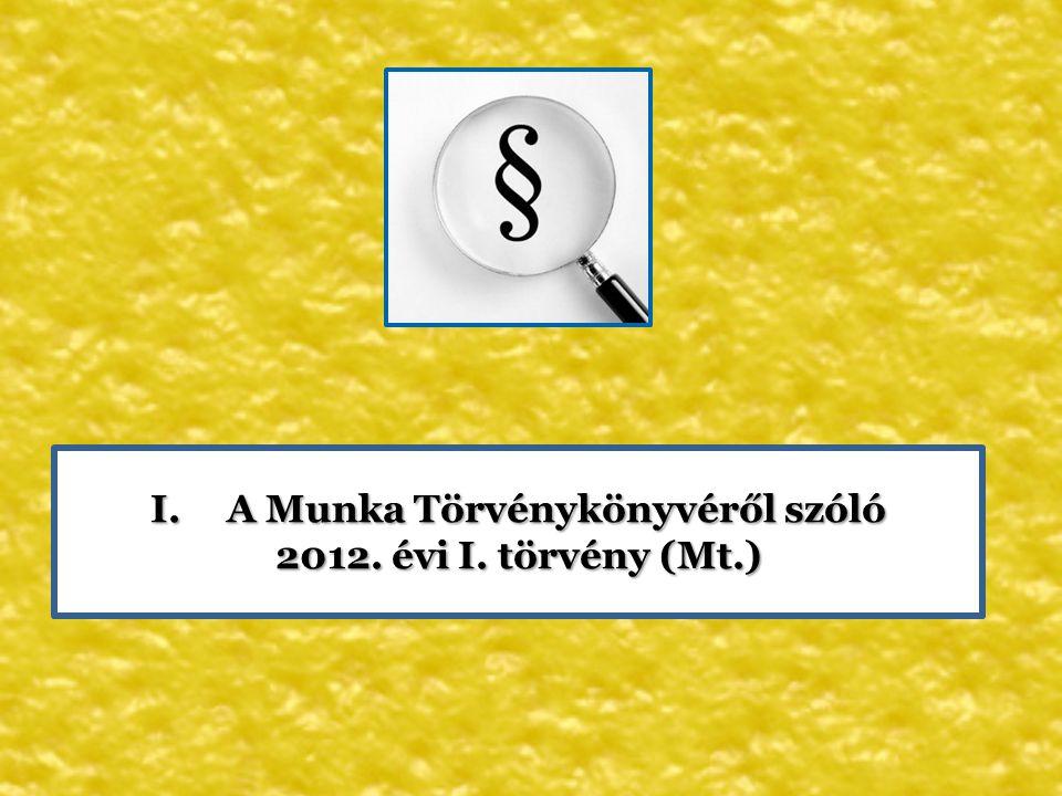 A Munka Törvénykönyvéről szóló