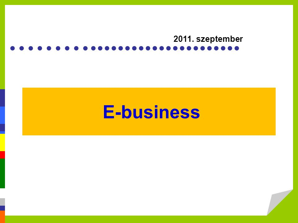 E-business 2011. szeptember