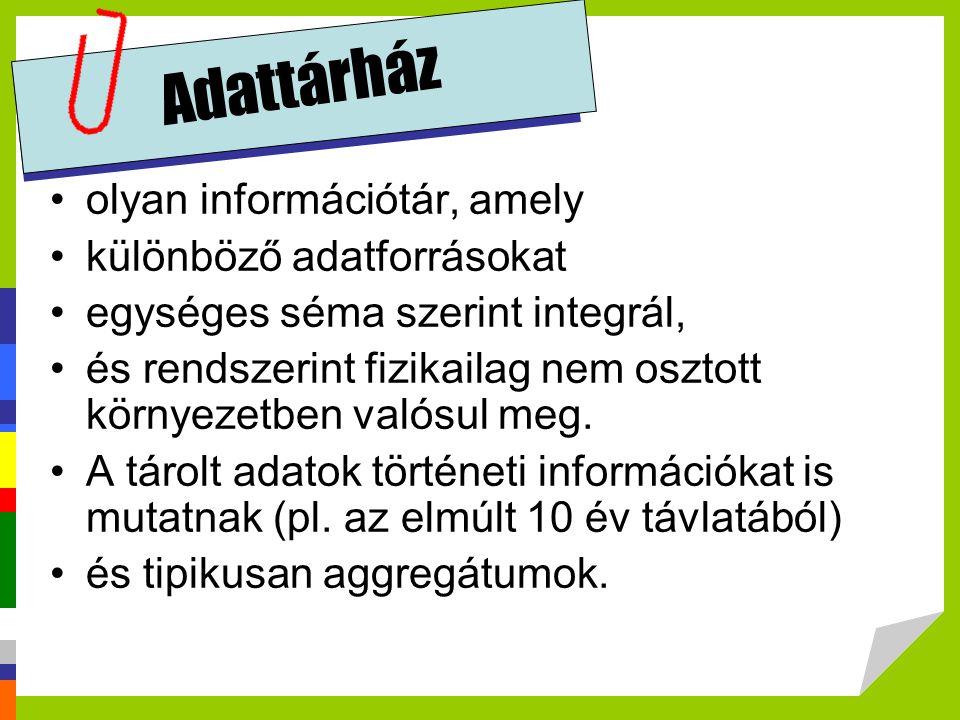 Adattárház olyan információtár, amely különböző adatforrásokat