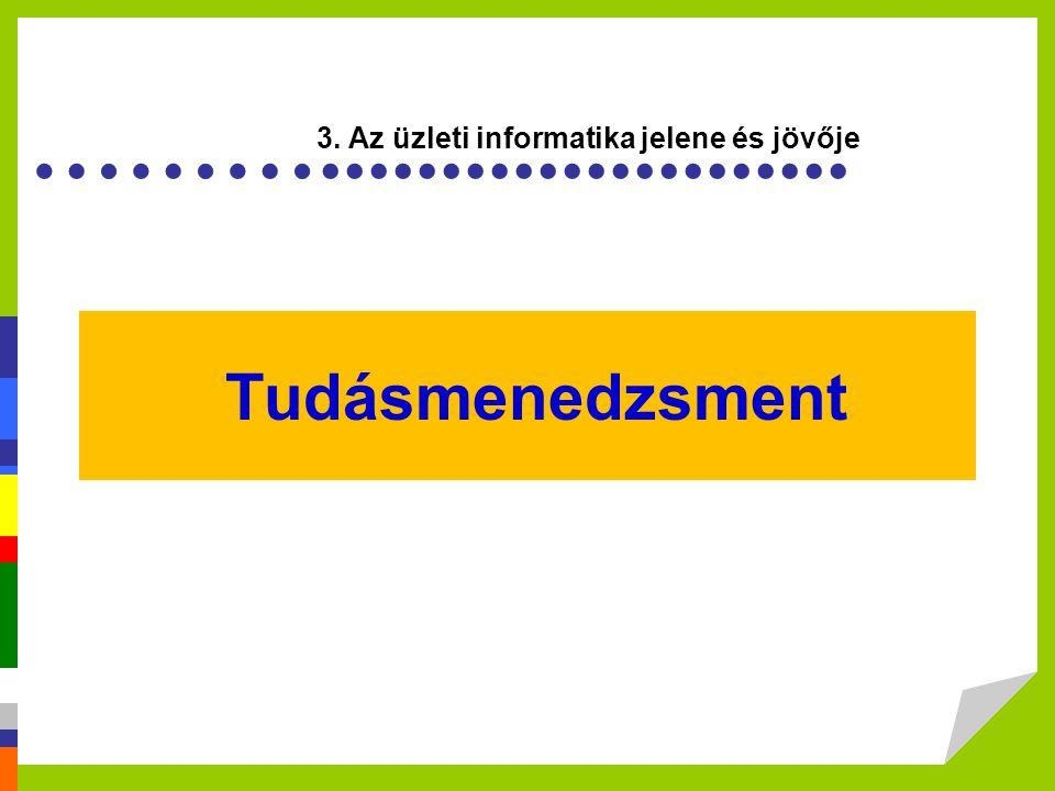 Tudásmenedzsment 3. Az üzleti informatika jelene és jövője