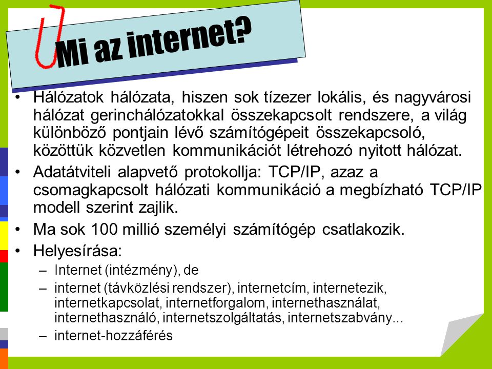 Mi az internet