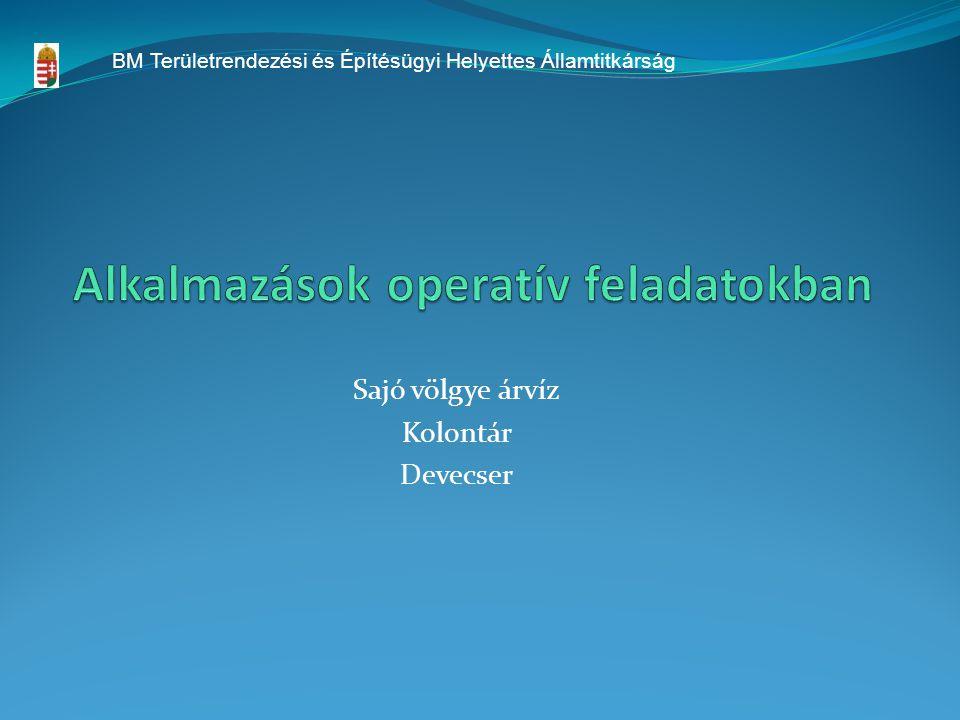 Alkalmazások operatív feladatokban