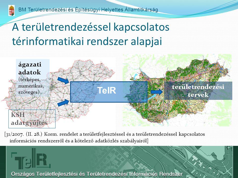 A területrendezéssel kapcsolatos térinformatikai rendszer alapjai