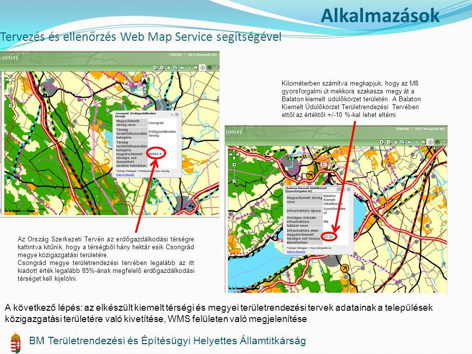 Tervezés és ellenőrzés Web Map Service segítségével