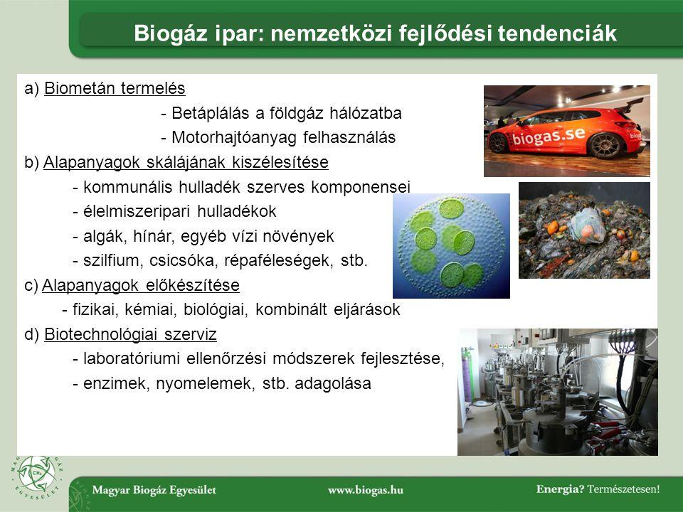 Biogáz ipar: nemzetközi fejlődési tendenciák