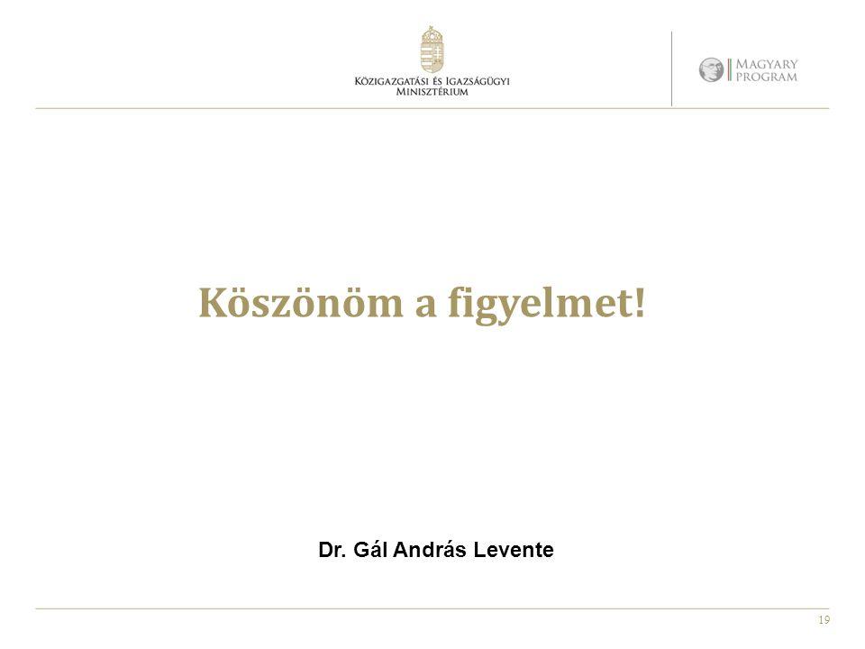 Köszönöm a figyelmet! Dr. Gál András Levente 19